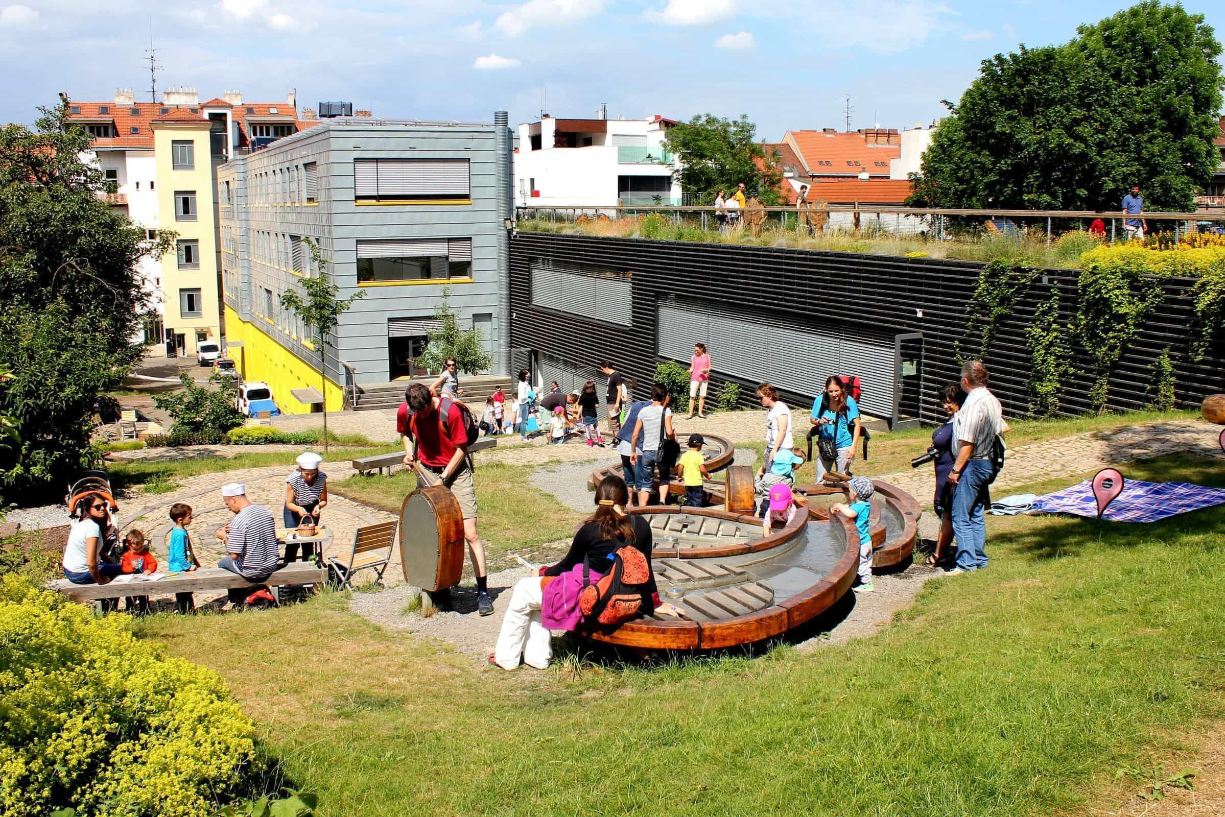 Otevřená zahrada v Brně, areál