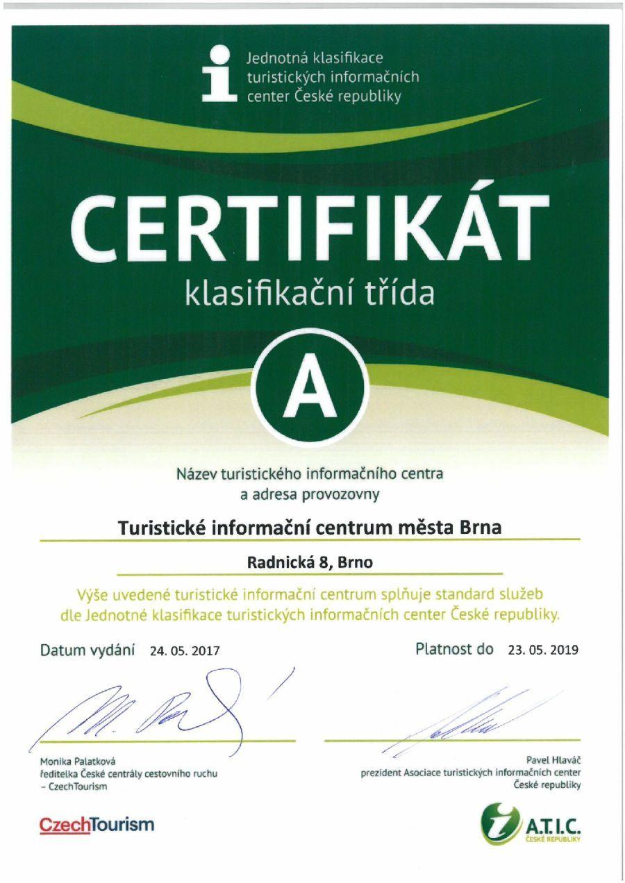 Informační centrum pod krokodýlem - certifikace