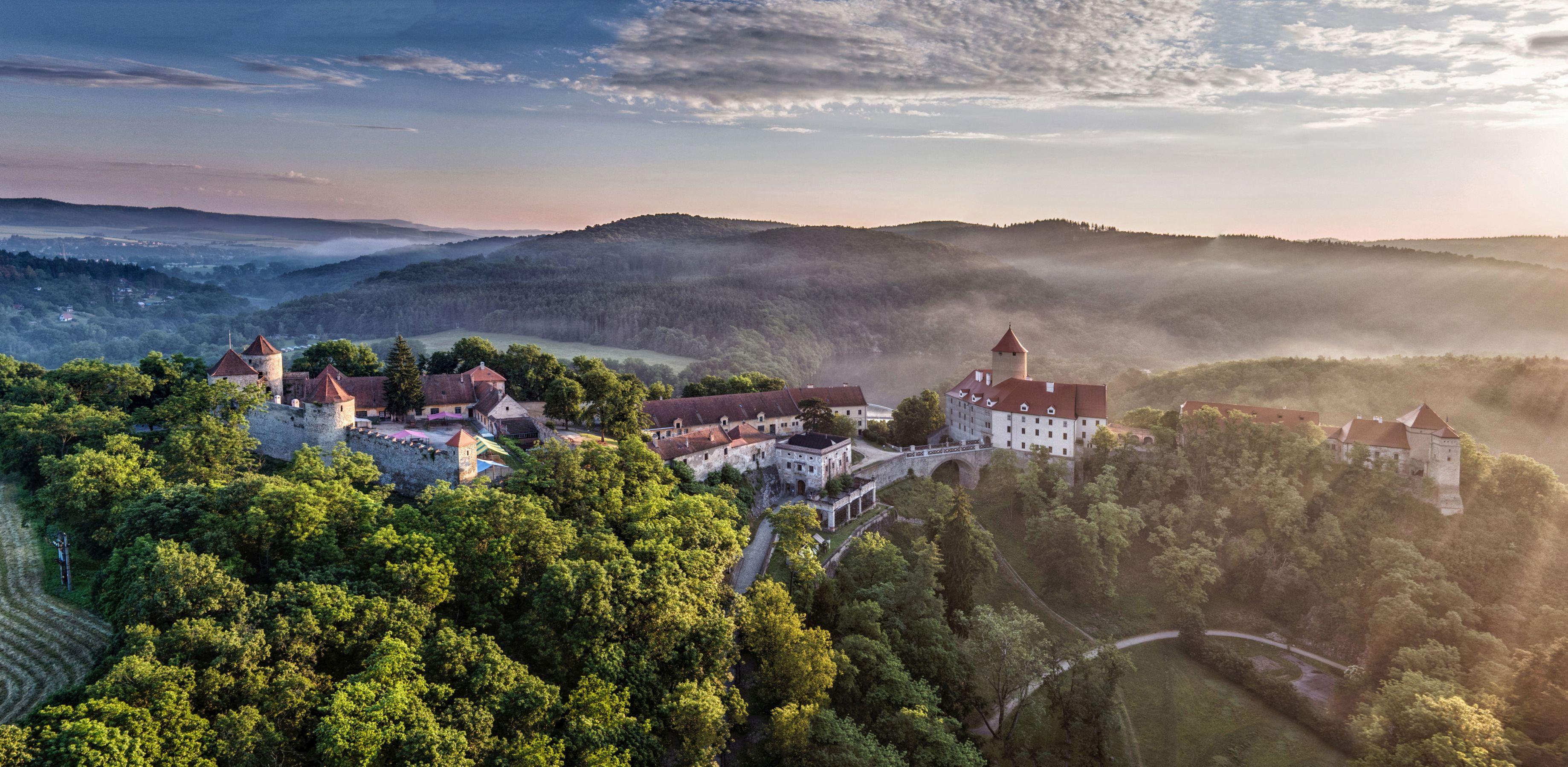hrad Veveří v Brně na Brněnské přehradě