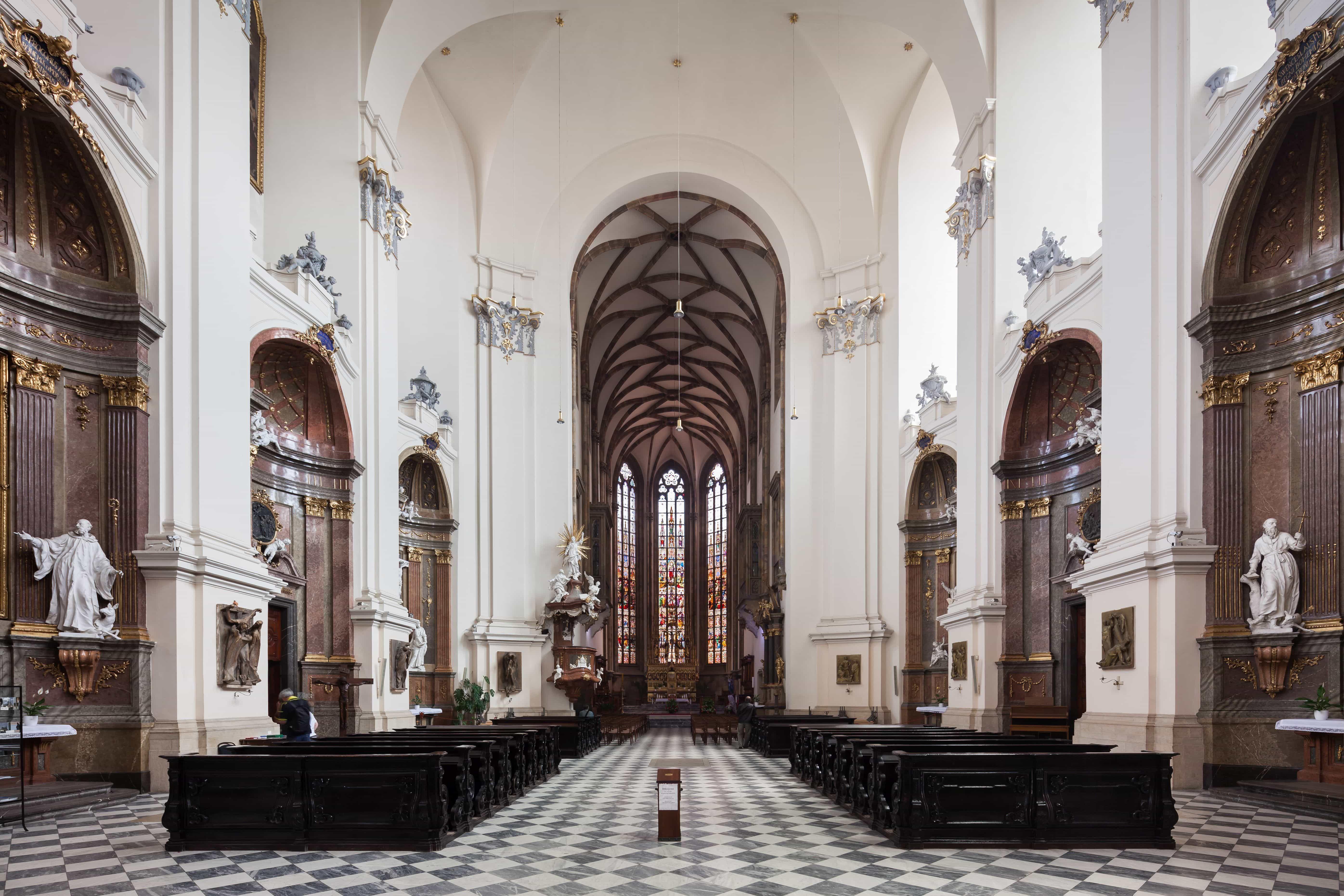Katedrála sv. Petra a Pavla - interiér, Petrov, Brno.