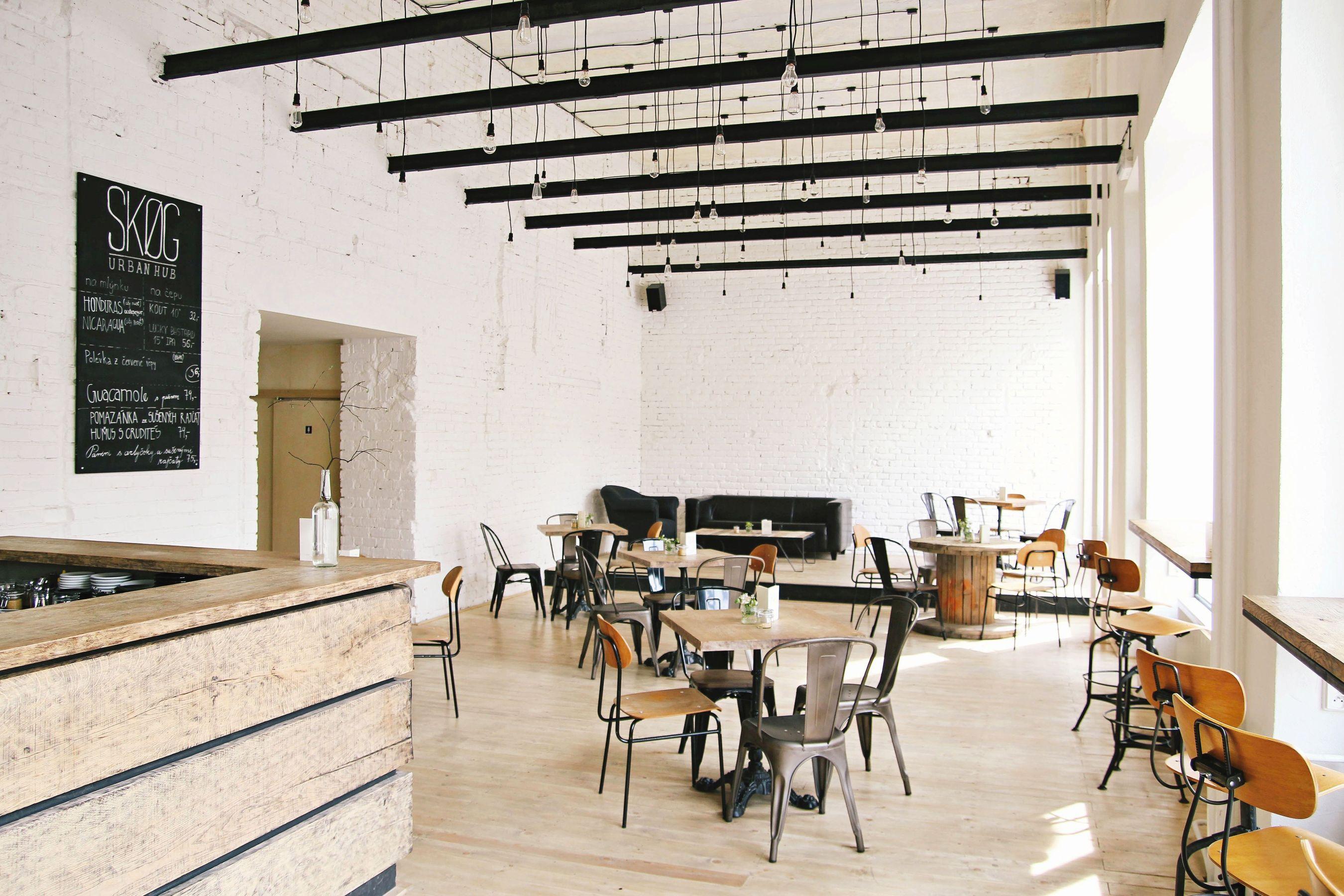 kavárna skog urban hub v Brně