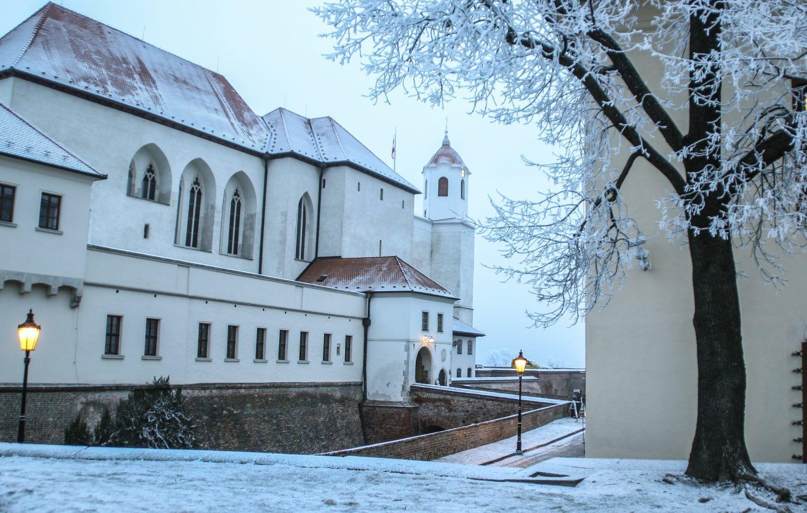 Hrad Špilberk v zimě