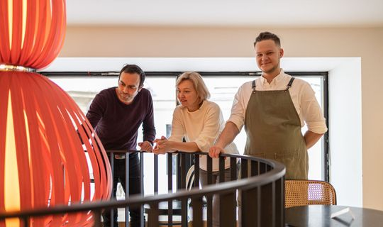 Cafe Placzek: Jiřina Plačková, Michal Grznár a herec Roman Blumaier