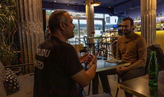 Raed Kahwaji - majitel tří podniků v Brně a herec Roman Blumaier