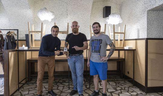 Ramen Brno - herec Roman Blumaier, Jiří Vyzourek a Jan Miňha