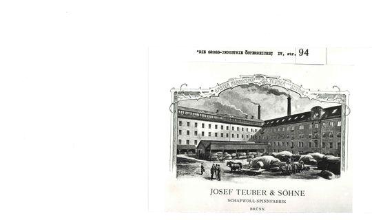 Přádelna Josepha Teubera & Söhne, předtím továrna H. F. & Soxhlet © Archiv města Brna